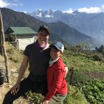 My son and I on a volunteer trip in Nepal, 2019